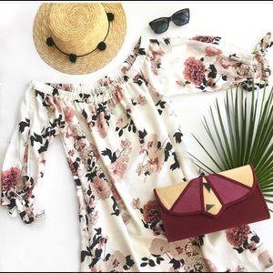 Dresses & Skirts - Off Shoulder Floral Dress - New ! S to 3X